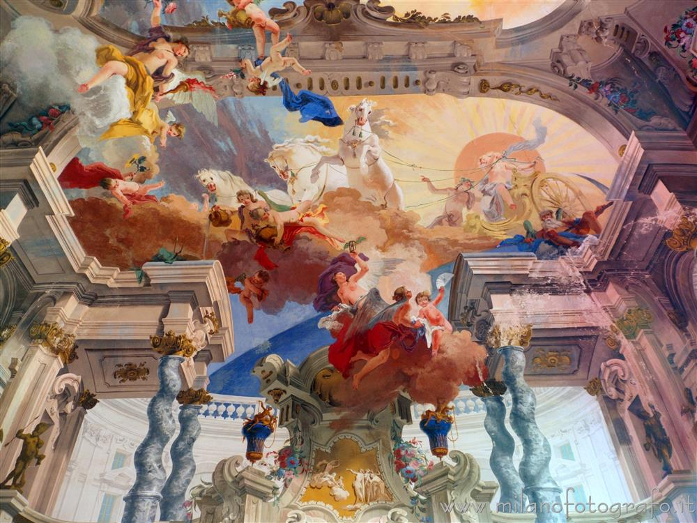 Bollate (Milan, Italy) - Fresco of the Sun Carriage in the Ballroom of Villa Arconati