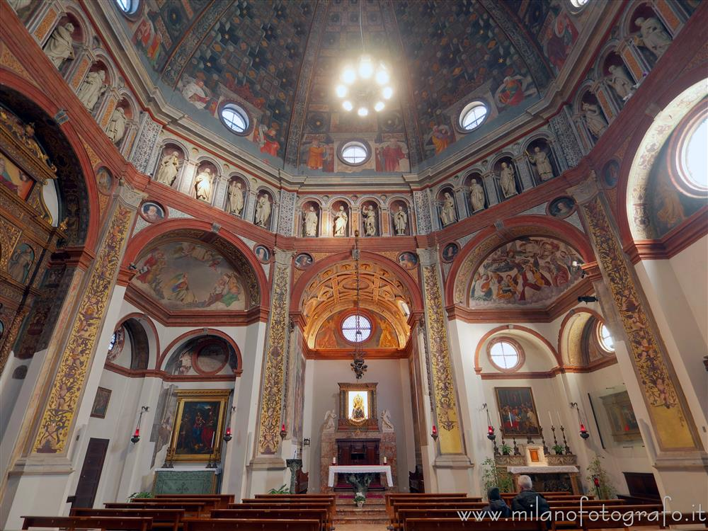 Busto Arsizio (Varese, Italy) - Interior of the Sanctuary of Santa Maria di Piazza looking toward the presbytery