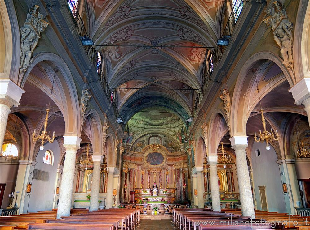 Candelo (Biella, Italy) - Interior of the Church of Saint Peter