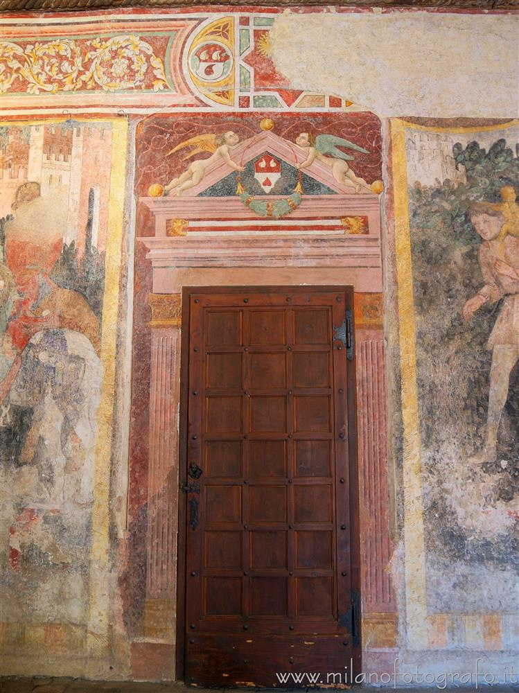 Cavernago (Bergamo, Italy) - Door in the court of the Castle of Malpaga