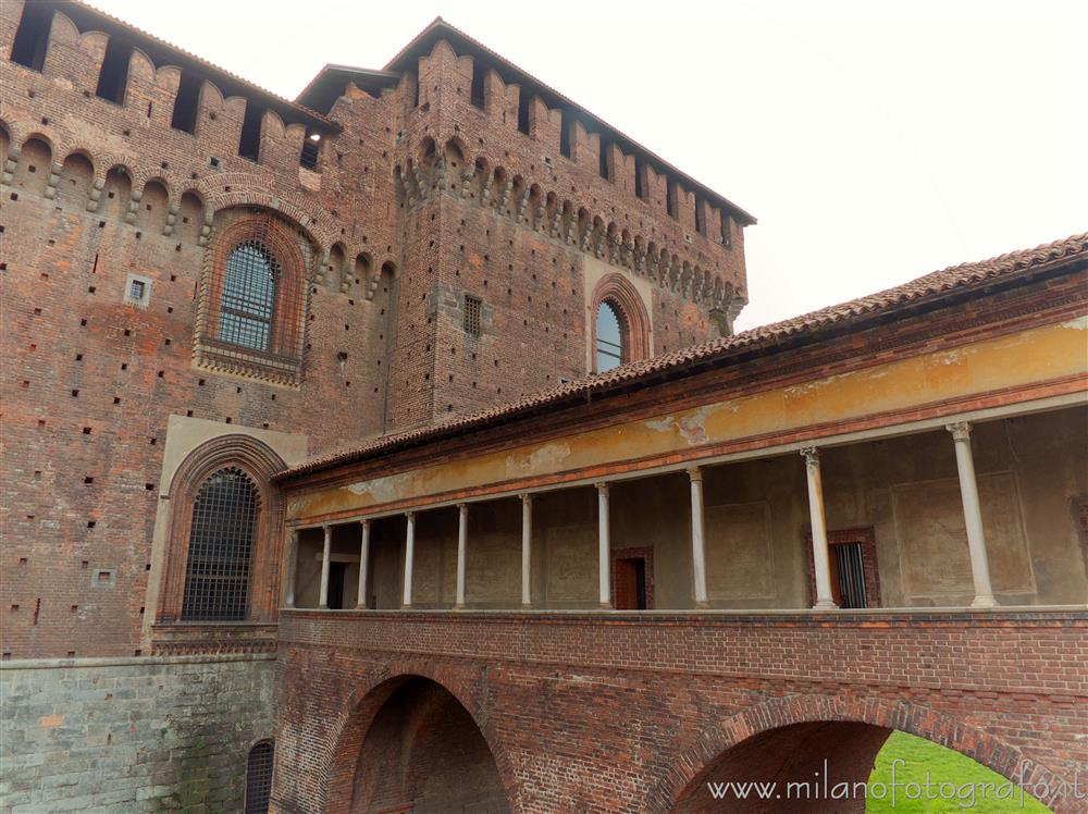 "Milan (Italy) - The ""Ponticella"" (small bridge) of the Sforza Castle"