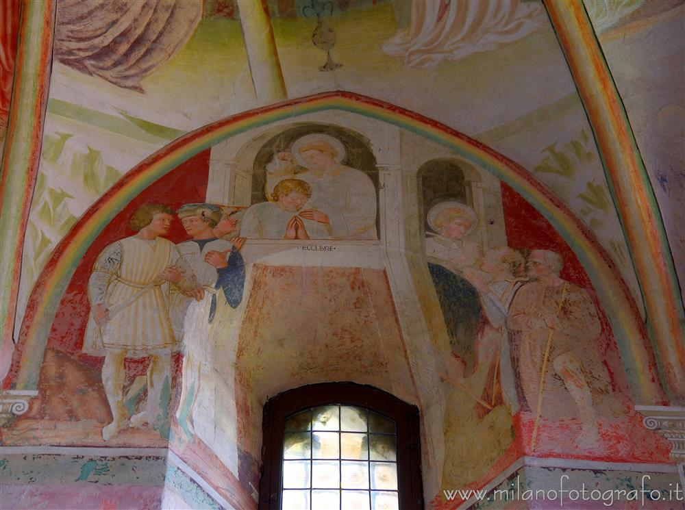 Castiglione Olona (Varese, Italy) - Frescoes around a window of the apse of the Collegiata