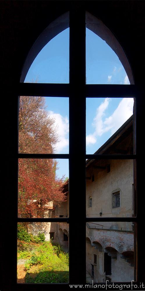 Castiglione Olona (Varese, Italy) - Sight from one of the windows of the great hall of Palace Branda