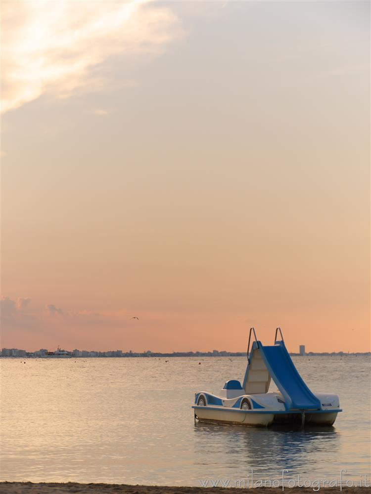 Cattolica (Rimini, Italy) - End of summer sunset with pedalo