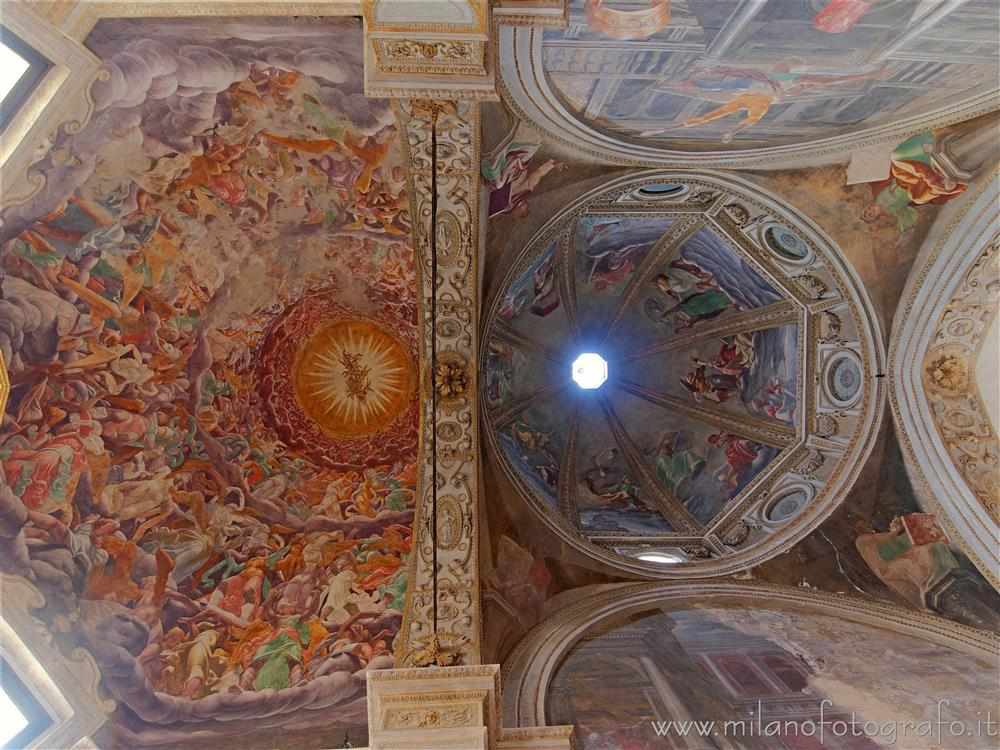 Milan (Italy) - Ceiling of the Foppa Chapel in the Basilica of San Marco
