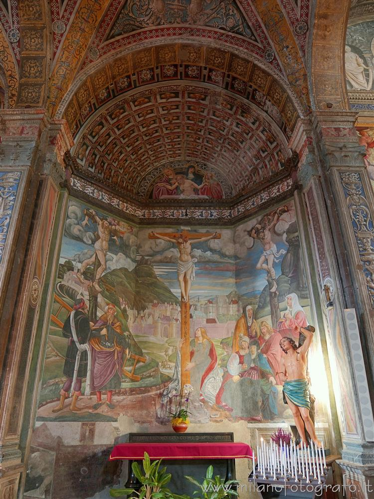 Biella (Italy) - Chapel of the Crucifixion in the Church of St. Sebastian