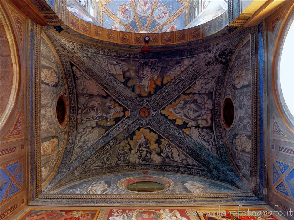 Biella (Italy) - Ceiling of the left transept arm of the Church of San Sebastiano