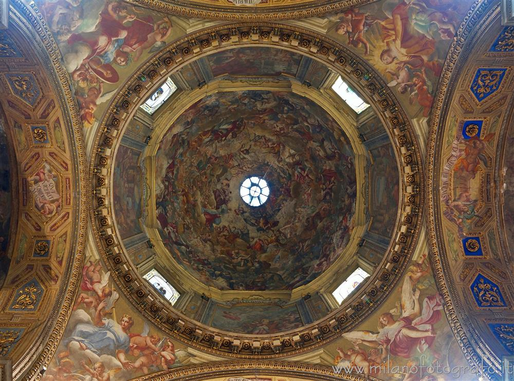 Milan (Italy) - Central dome of the Church of Sant'Alessandro in Zebedia
