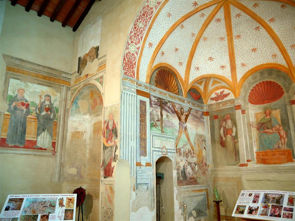 Melzo (Milan, Italy) - Frescoes in the apse of the Church of Sant'Andrea