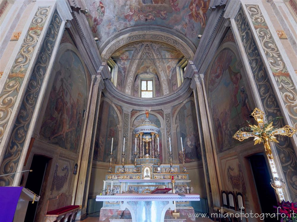 Milan (Italy) - Frescoes in the apse of the Church of the Saints Peter and Paul at the Three Ronchetti