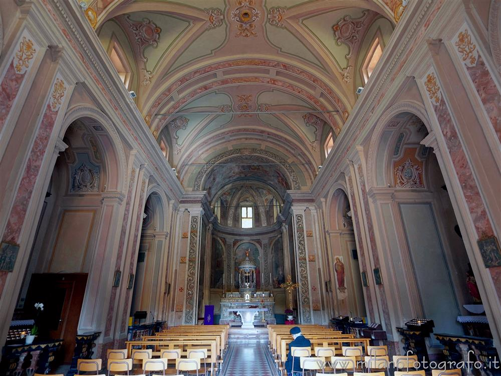 Milan (Italy) - Interior of the Church of the Saints Peter and Paul at the Three Ronchetti