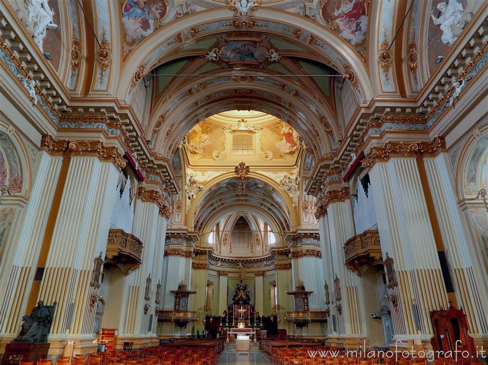 Desio (Milan, Italy) - Interior of the Basilica of the Saints Siro and Materno