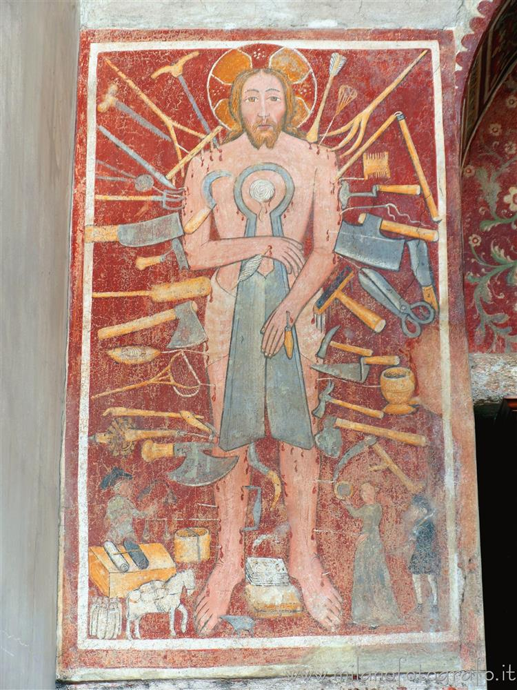 Biella (Italy) - Fresco of the Christ of Sunday in the St. Stephen's Cathedral