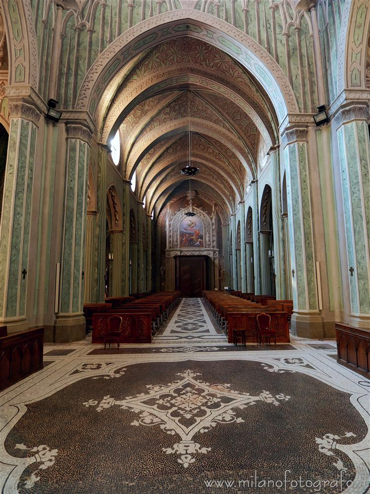 Biella (Italy) - Central nave of the Cathedral of Biella