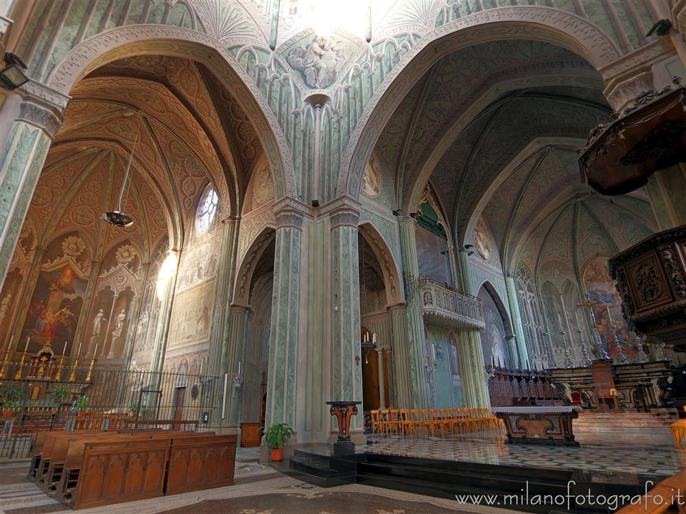 Biella (Italy) - Presbytery and left arm of transept of the Cathedral of Biella
