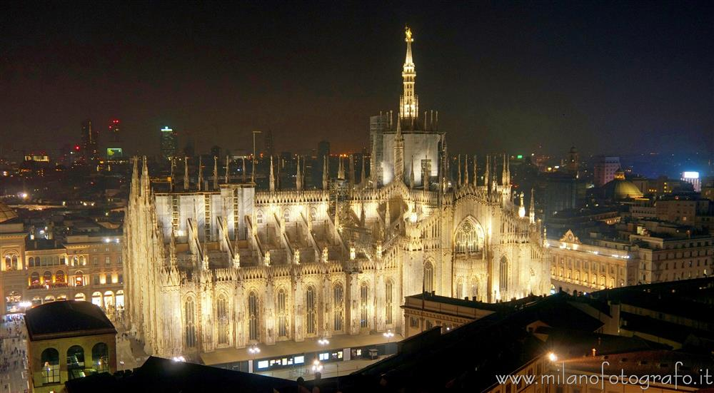 Milan (Italy) - The Cathedral seen from the Martini Terrace
