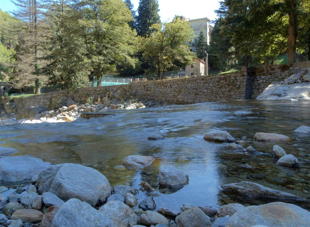 Rosazza (Biella, Italy) - The river Cervo, flowing along the street