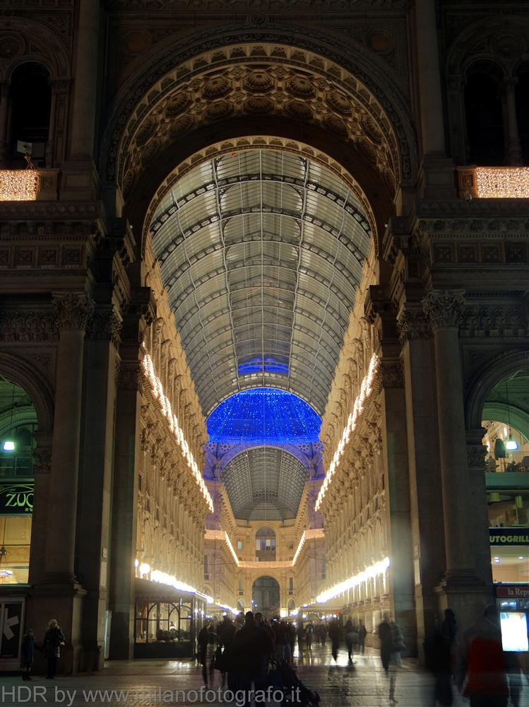 Milan (Italy) - Vittorio Emanuele Gallery decorated for Christmas