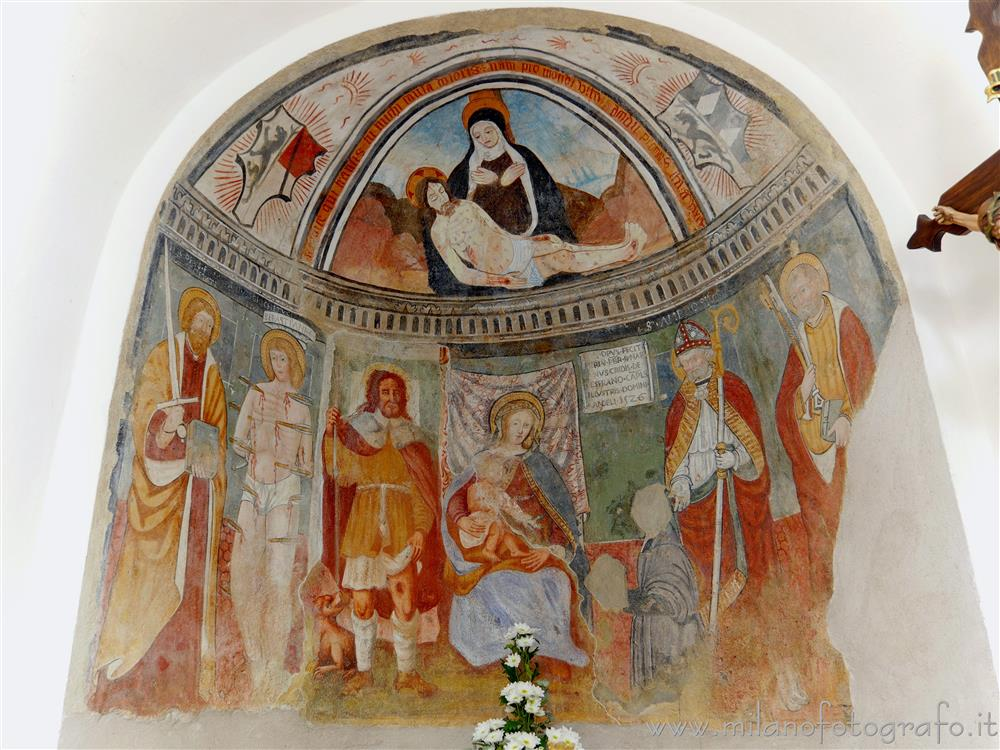 Gaglianico (Biella, Italy) - Apse of the Oratory of San Rocco