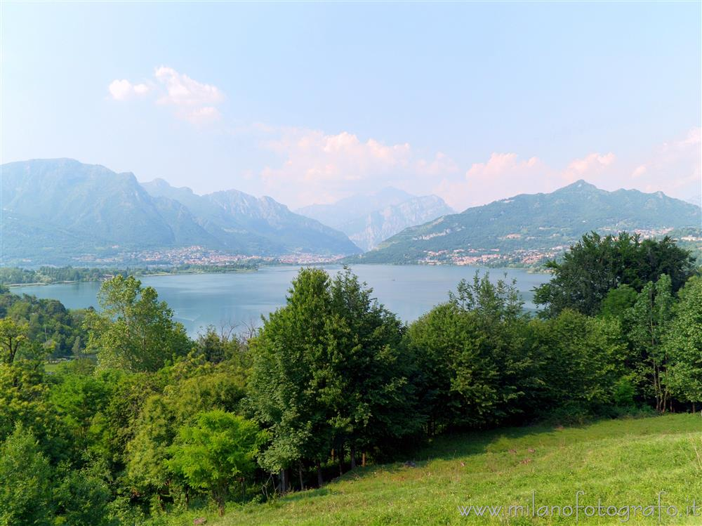 Oggiono (Lecco, Italy) - Lake Annone seen from the Upper Square of Oggiono