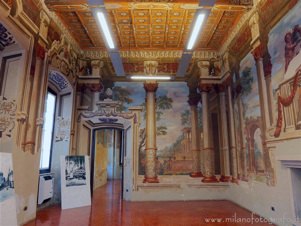 Lissone (Milan, Italy) - Hall of the Columns in Villa Baldironi Reati