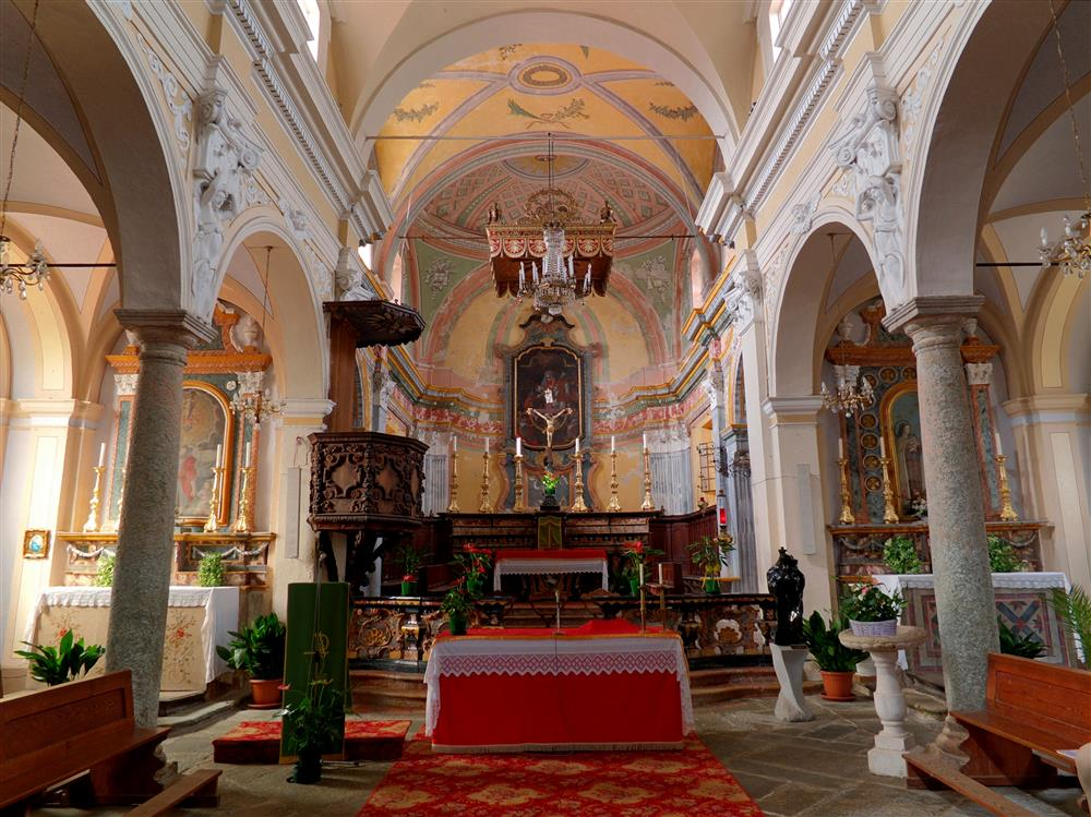 Magnano (Biella, Italy) - Rear part of the Interior of the Church of St. John the Baptist and San Secondo