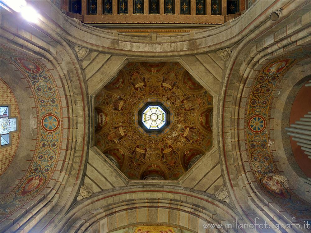Milan (Italy) - Ceiling of the presbytery of the Basilica of the Corpus Domini