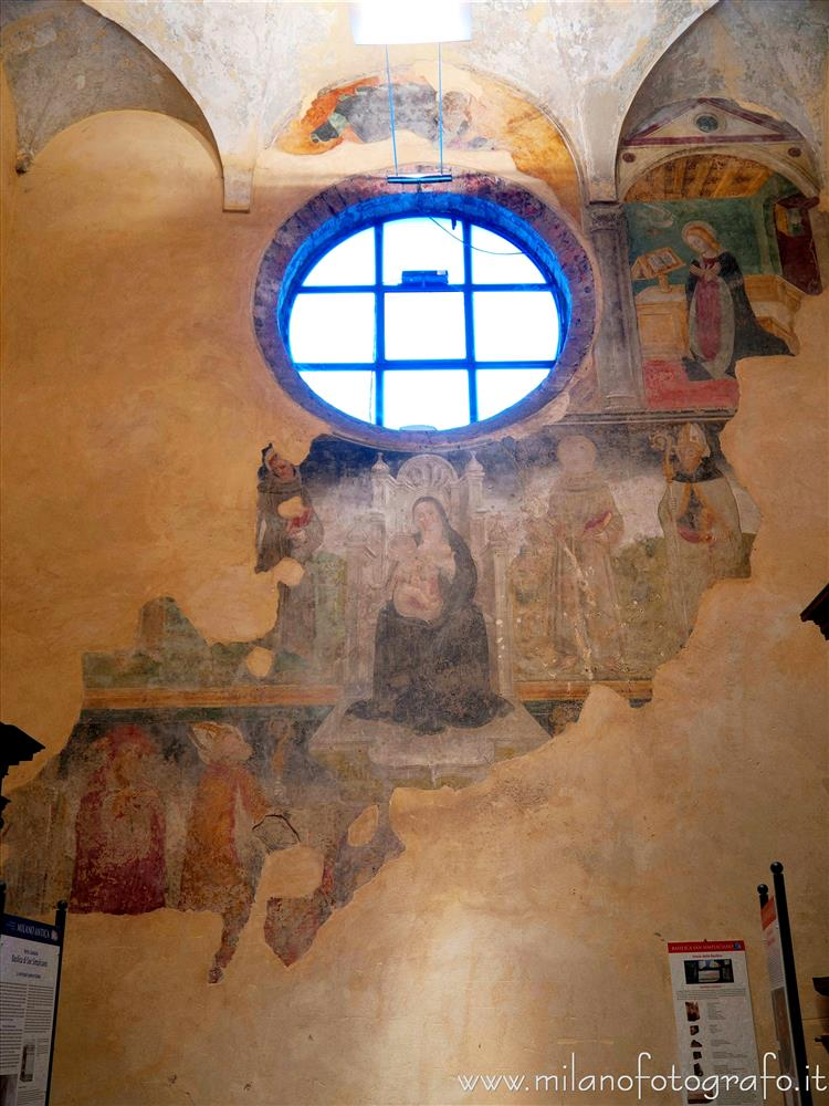 Milan (Italy) - Late medieval frescoes in the Basilica of San Simpliciano