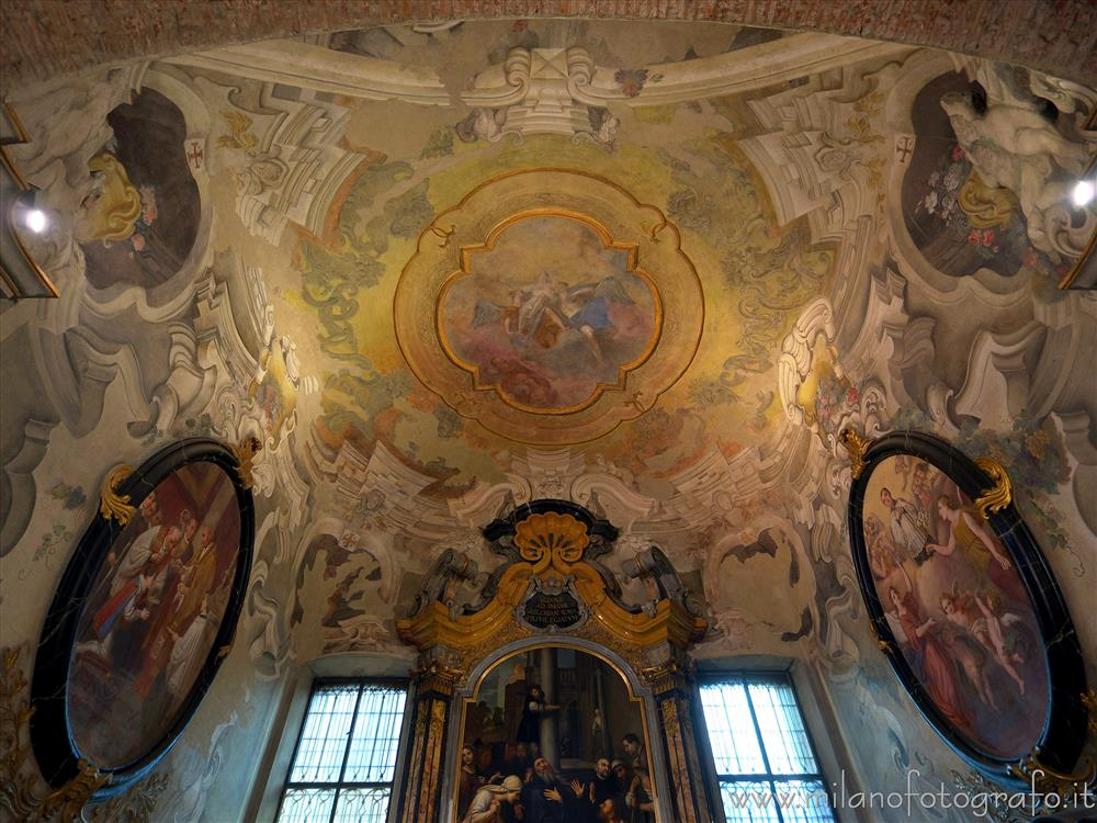 Milan (Italy) - Ceiling of the Chapel of San Benedict in the Basilica of San Simpliciano