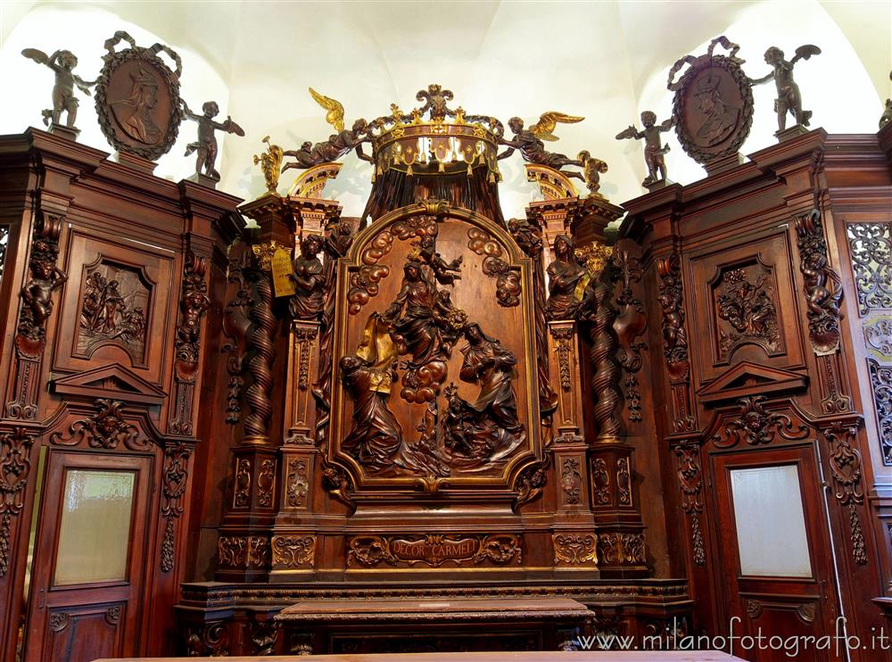 Milan (Italy) - Central wardrobe in the sacristy of the Church of Santa Maria del Carmine