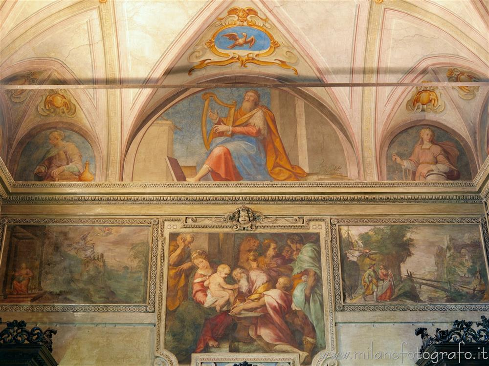 Milan (Italy) - Frescoes in the sacristy of the church of Sant'Alessandro in Zebedia above the entrance door