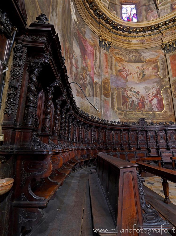 Milan (Italy) - Detail of the choir of the Church of Sant'Alessandro
