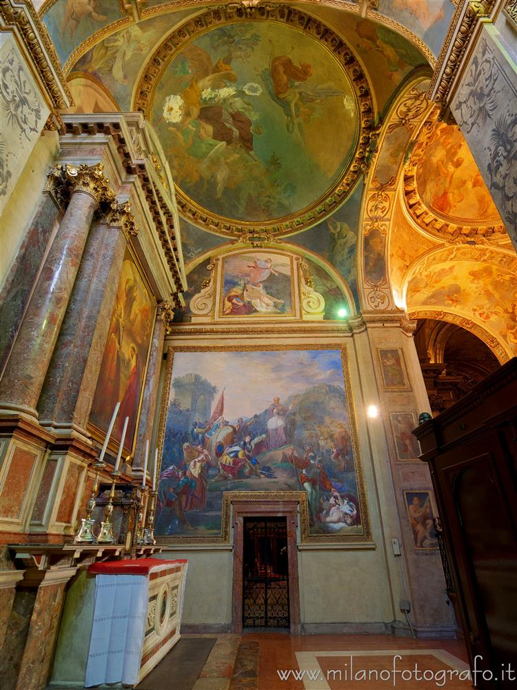 Milan (Italy) - Interior of the Chapel of Sant'Alessandro Sauli in the Church of Sant'Alessandro in Zebedia