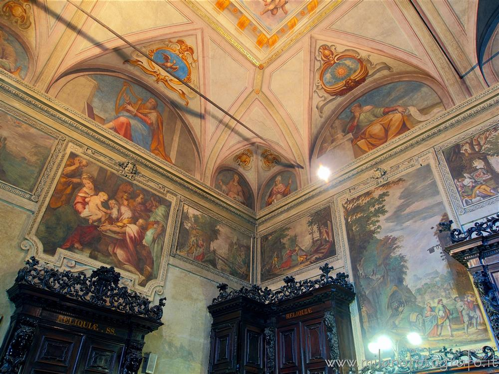 Milan (Italy) - Frescoed walls of the sacristy of the Church of Sant'Alessandro in Zebedia
