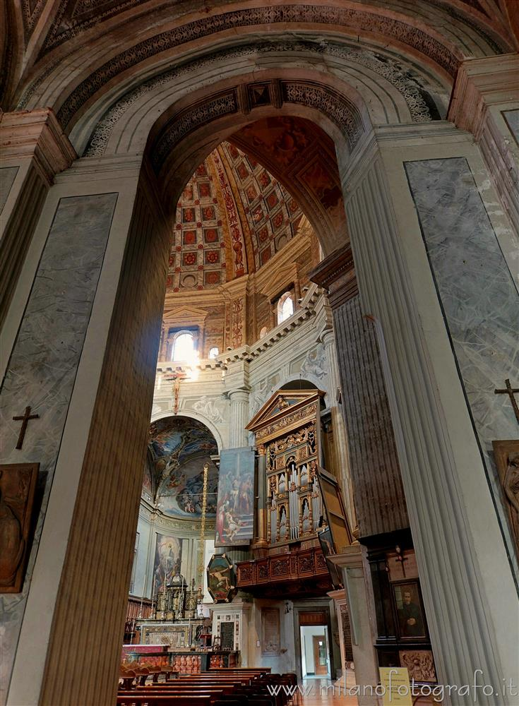 Milan (Italy) - Central body of the Church of Santa Maria della Passione seen from the right aisle