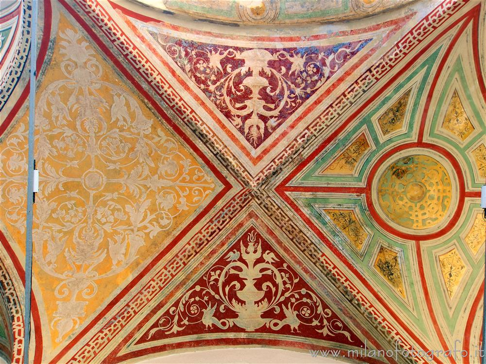Milan (Italy) - Cloisters of San Simpliciano - Renaissance decorations in the Small Cloister