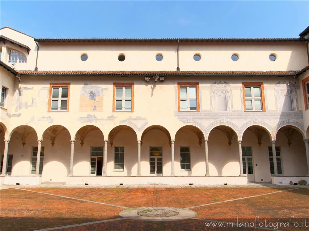 Milan (Italy) - Cloisters of San Simpliciano - One side of the Small Cloister