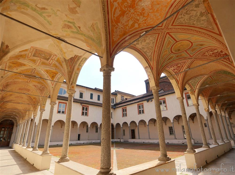 Milan (Italy) - Small cloister of the Cloisters of San Simpliciano