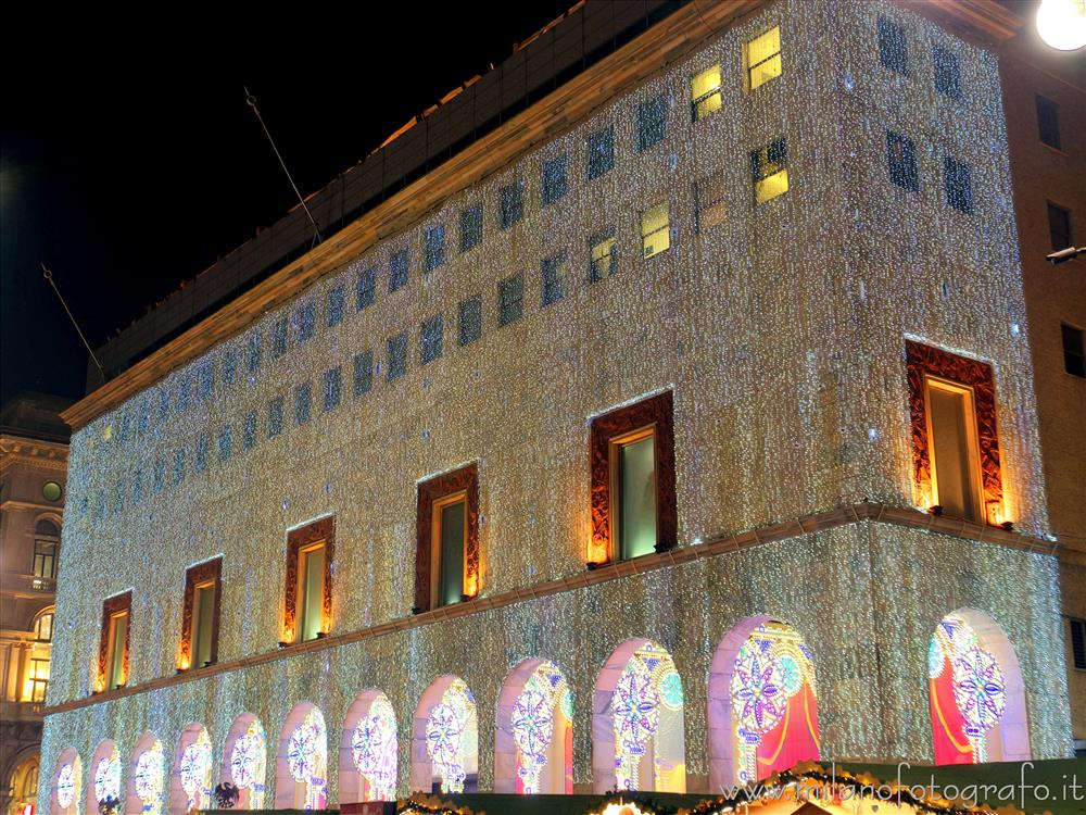 Milan (Italy) - The Rinascente palace with the Christmas lights