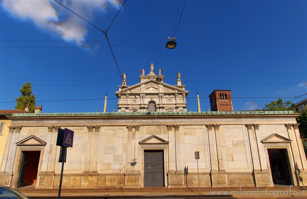 Milan (Italy) - Church of Santa Maria dei Miracoli: what you see from the street