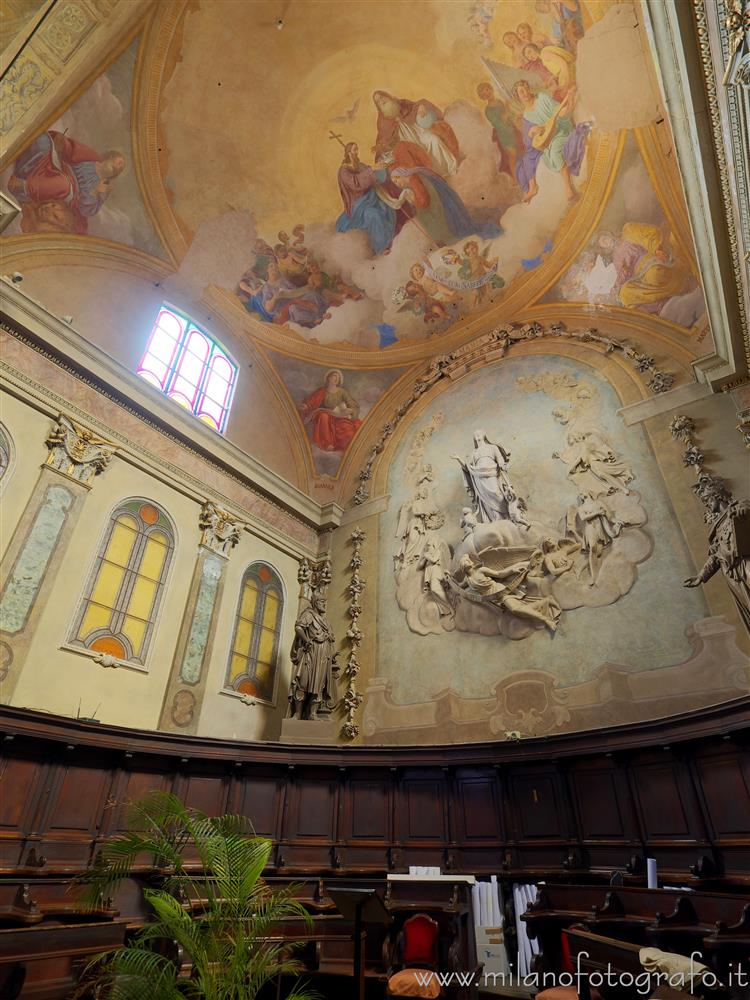 Monza (Monza e Brianza, Italy) - Apse and choir of the Church of Santa Maria di Carrobiolo