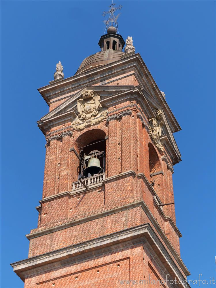 Monza (Monza e Brianza, Italy) - Upper part of the  bell tower of the Cathedral of Monza