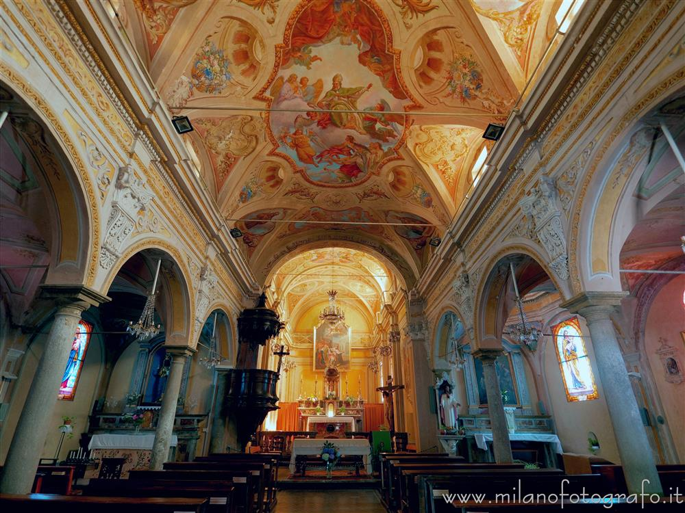 Muzzano (Biella, Italy) - Interior of the Church of Sant'Eusebio