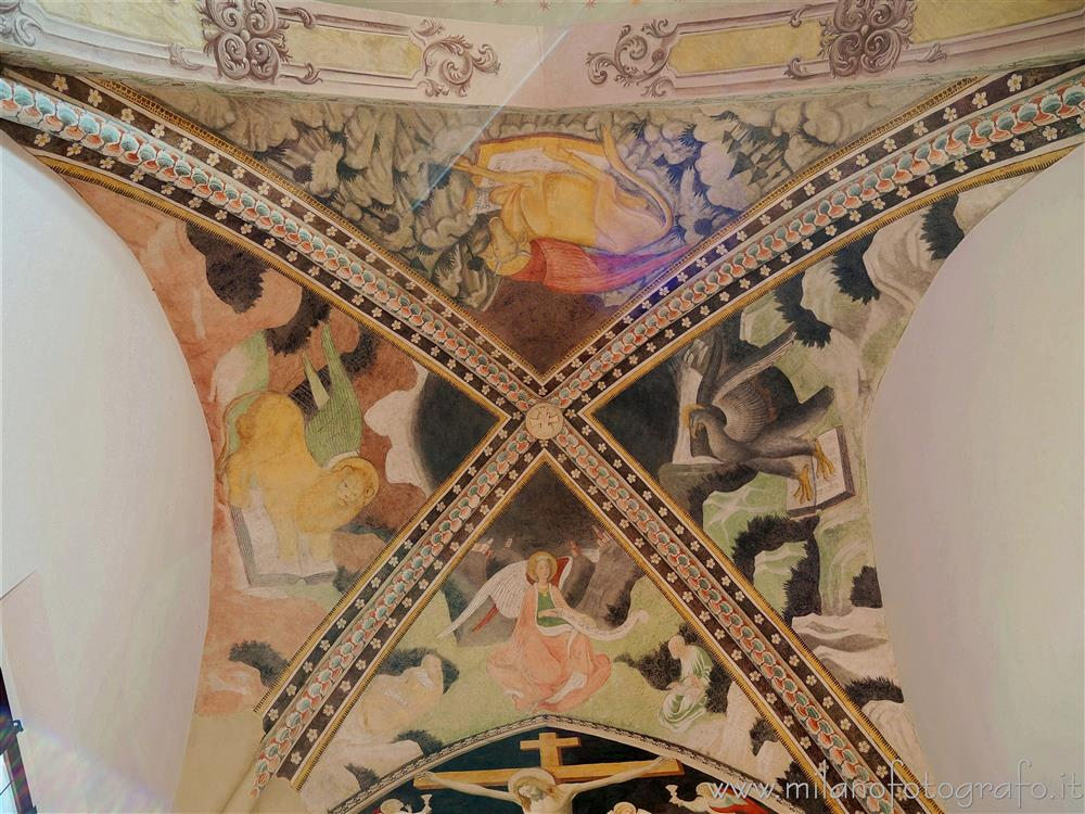 Novara (Italy) - Ceiling of the apse of the church of the Convent of San Nazzaro della Costa