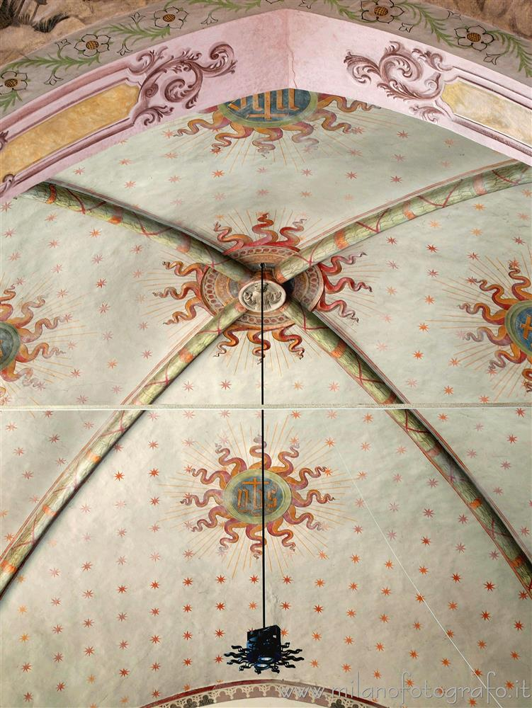 Novara (Italy) - Ceiling of the presbytery of the church of the Convent of San Nazzaro della Costa