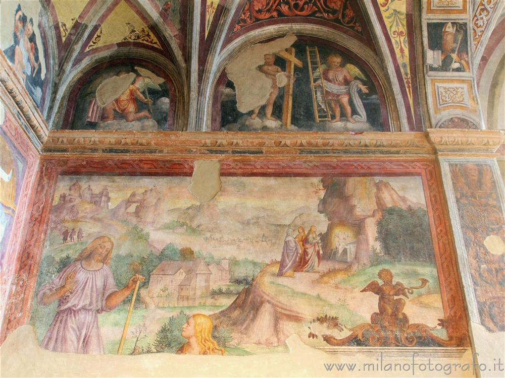 Milan (Italy) - Right wall of the apse of the Oratory of the Passion