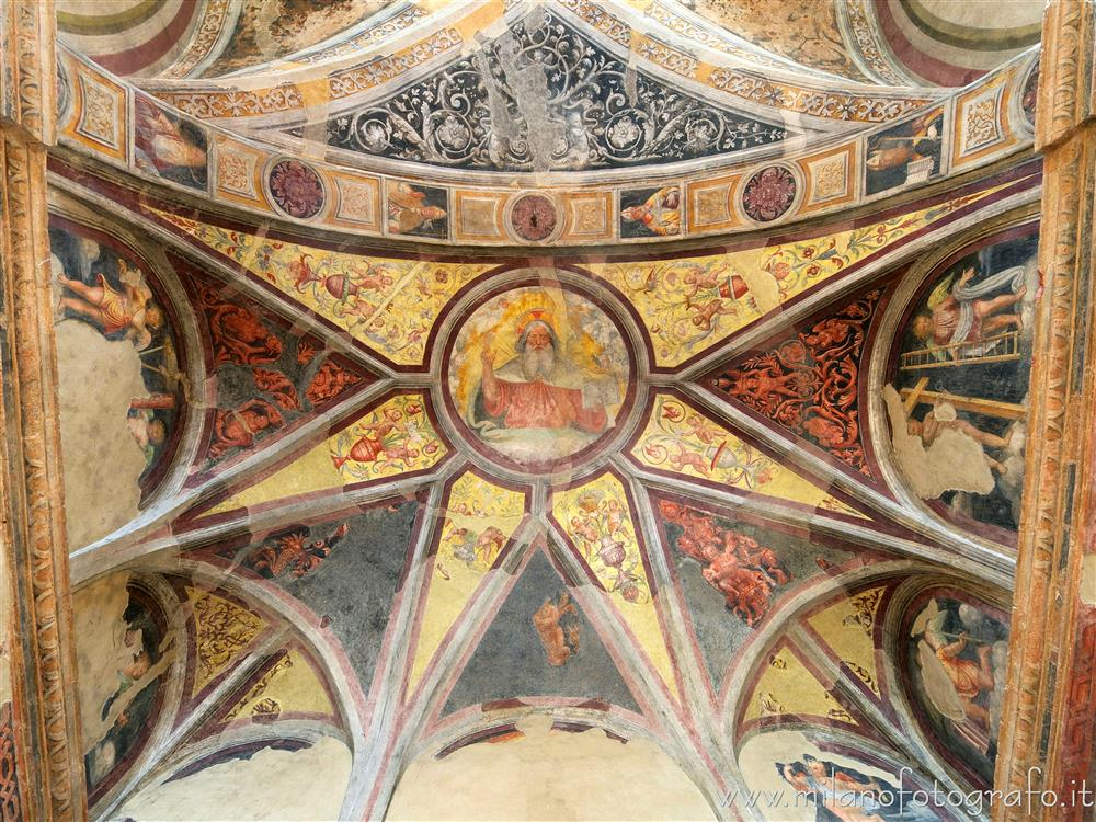 Milan (Italy) - Vault of the apse of the Oratory of the Passion