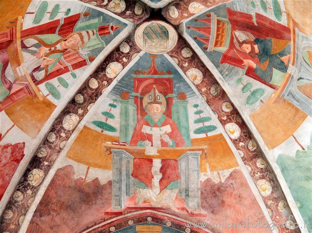 Settimo Milanese (Milan, Italy) - Frescoes of doctors of the Church on the vault of the aps of the Oratory of San Giovanni Battista