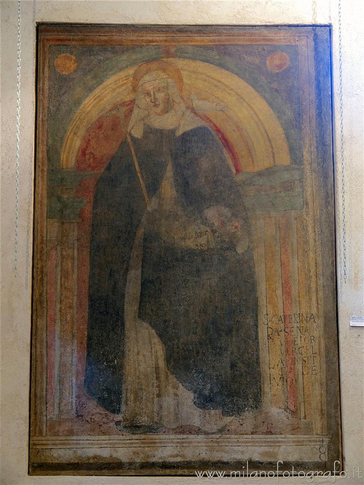 Milan (Italy) - Fresco of Saint Caterina from Siena in the Oratory of San Protaso