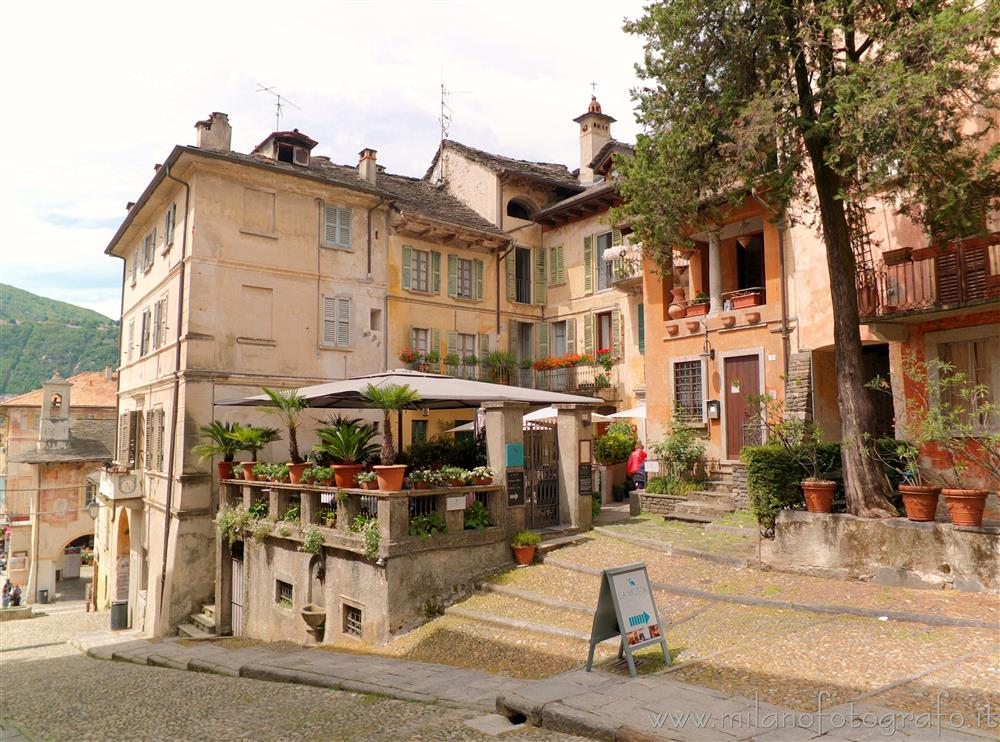 Orta San Giulio (Novara, Italy) - Antique houses at the base of the Climb of the Motta